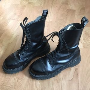 Demonia Rocky 10 Leather Steel Toe Combat Boots